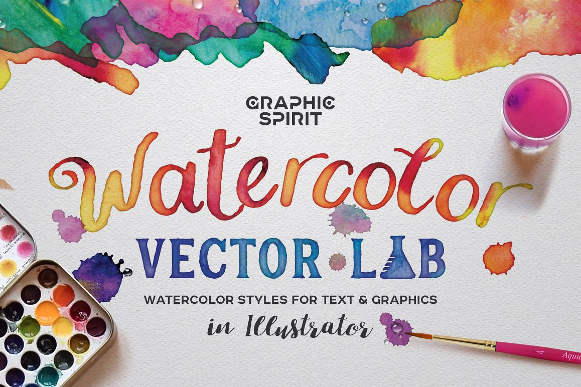 Watercolor Vector Styles Illustrator example image