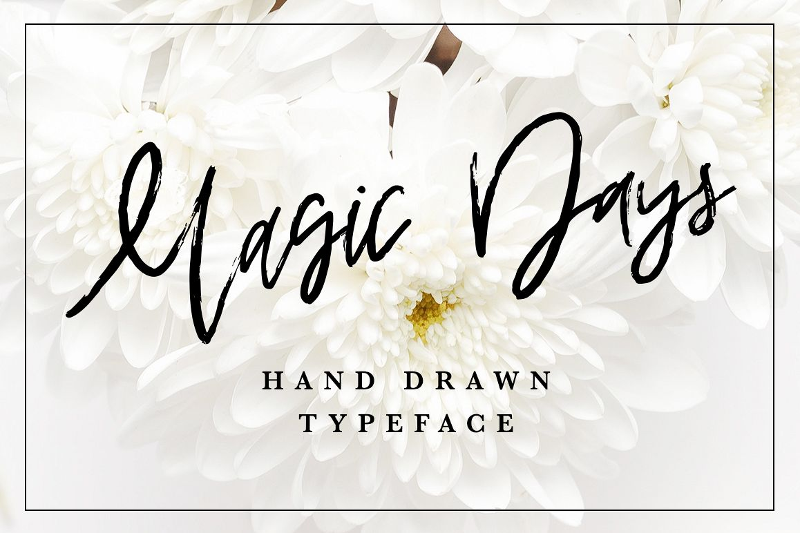 Magic Days Hand Drawn Font example image