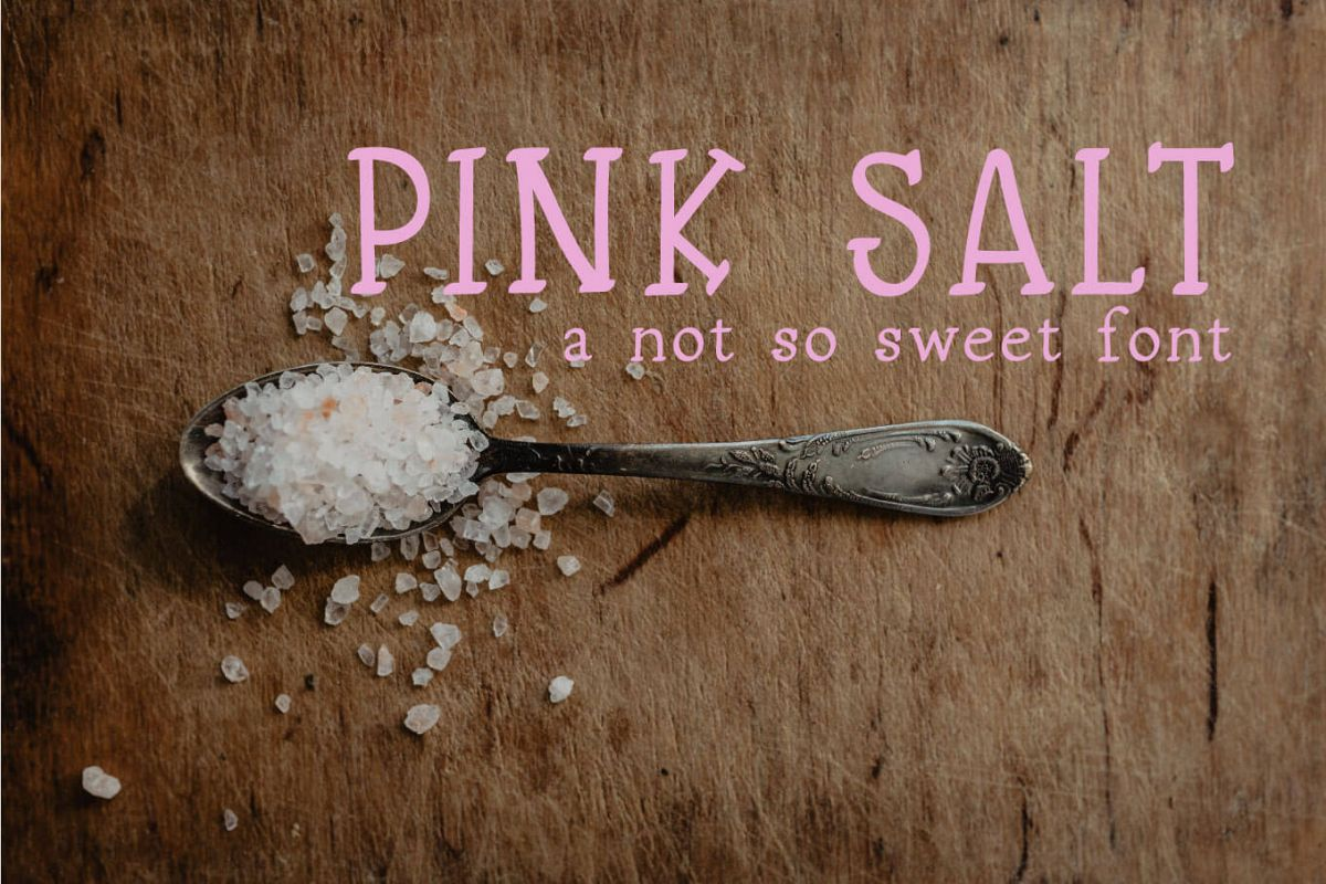 Pink Salt A Not So Sweet Font example image