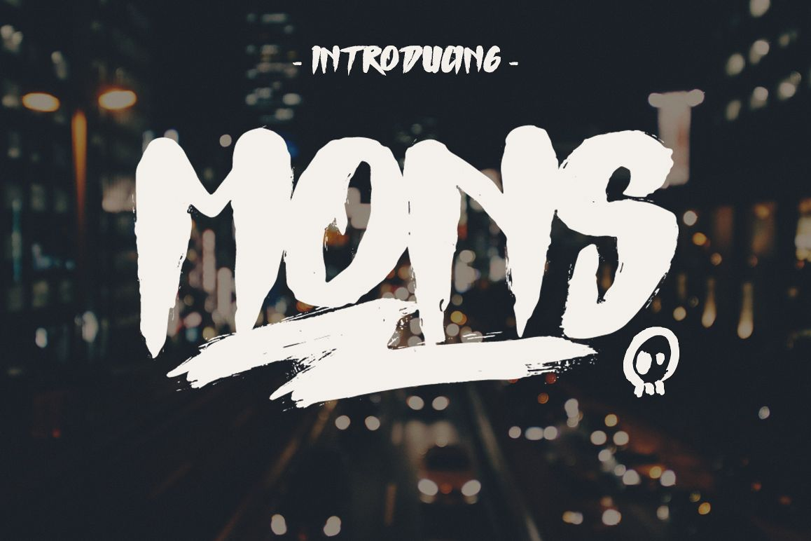 Mons Typeface example image
