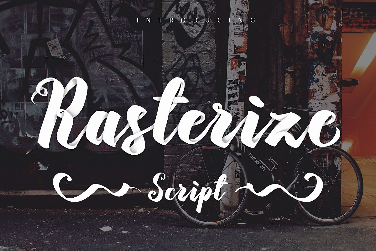 Rasterize Script Bold example image