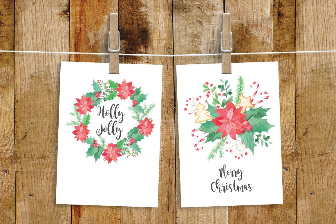 Watercolor Christmas Collection example image 5