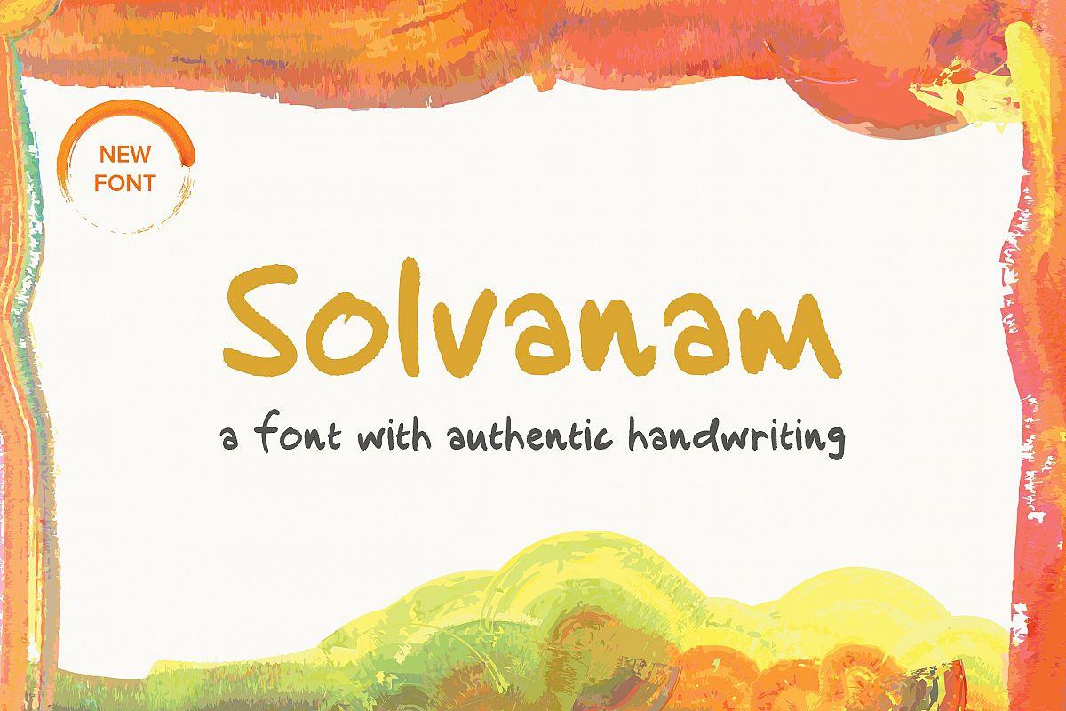 Solvanam  Font example image