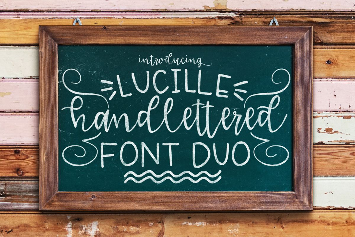 Lucille Handlettered Duo example image
