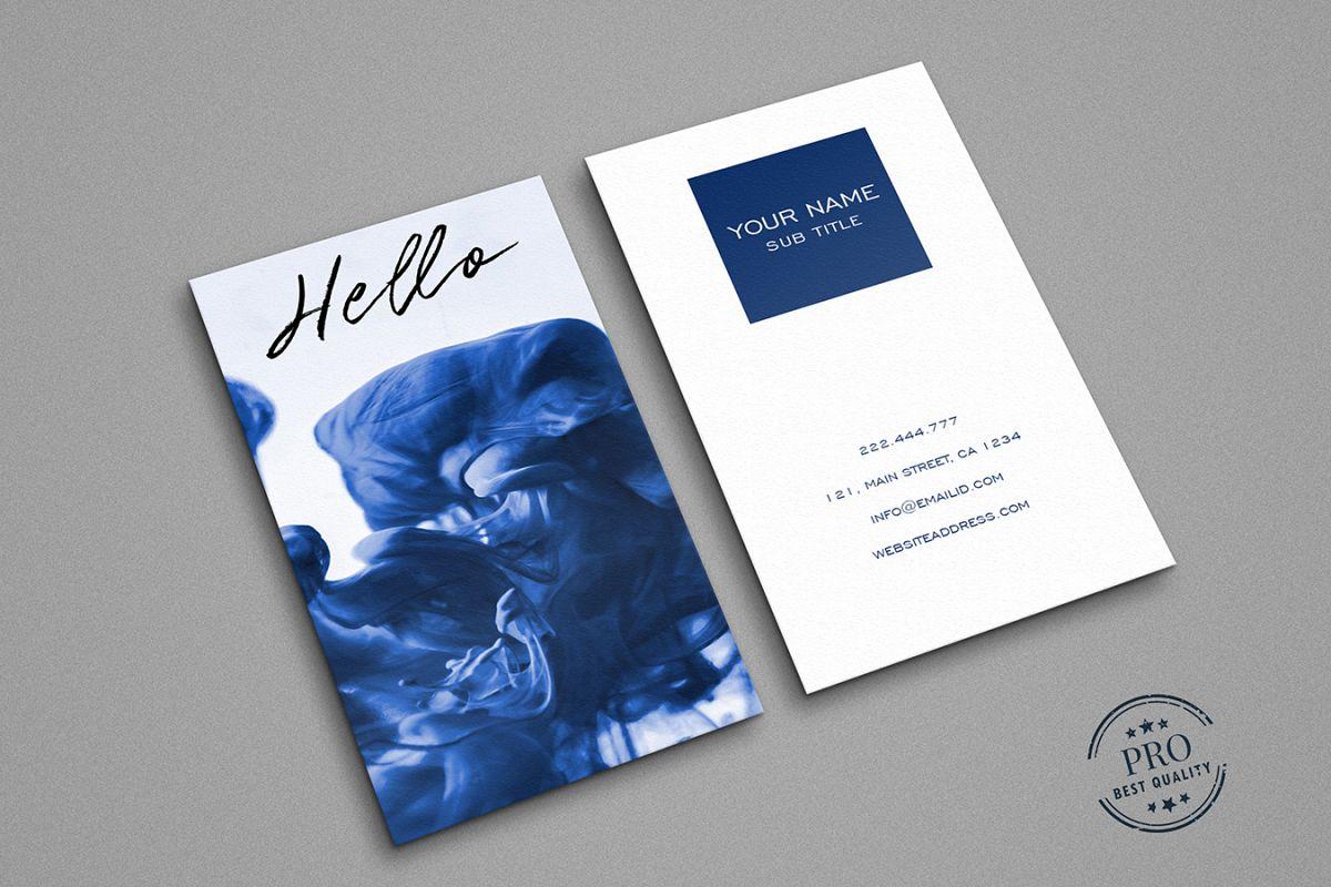 Blue splash cool business card by Creat | Design Bundles