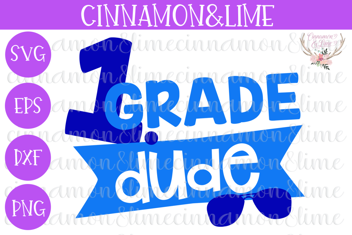 1st Grade Dude SVG example image