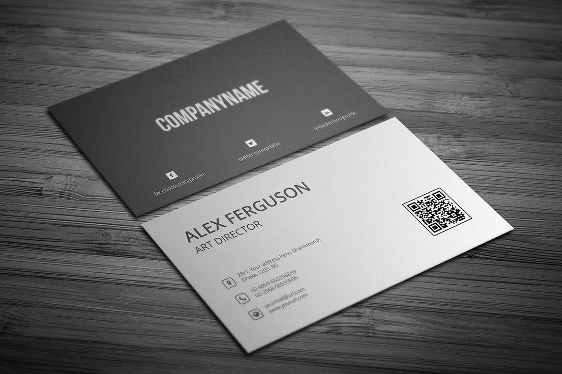 Minimal business card by jilapi design bundles minimal business card example image colourmoves