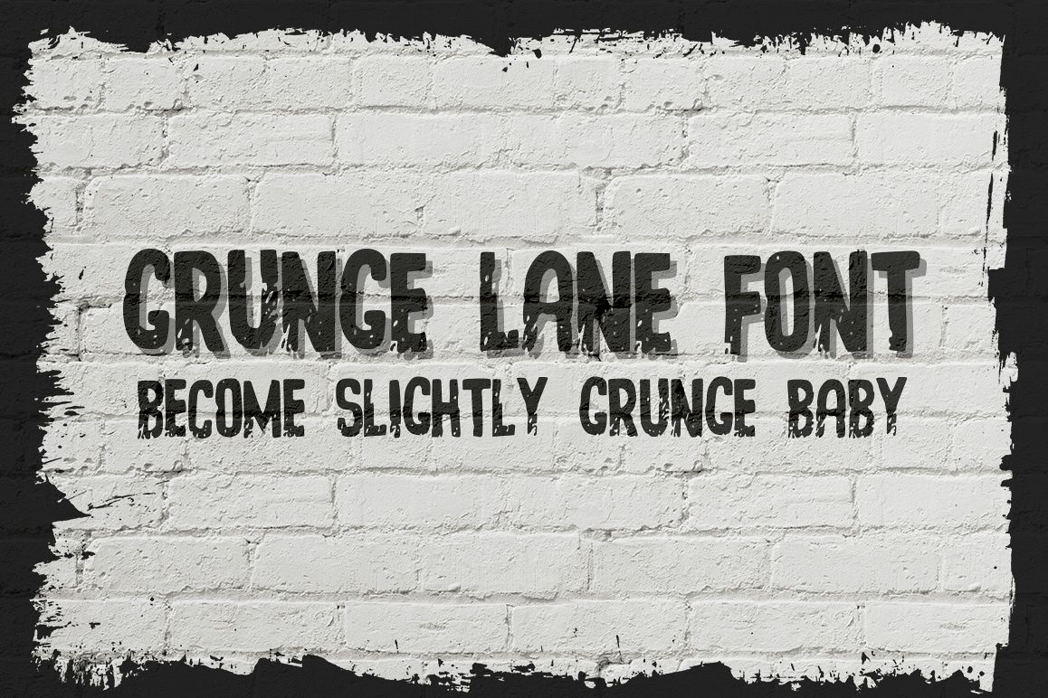 Grunge Lane Font example image