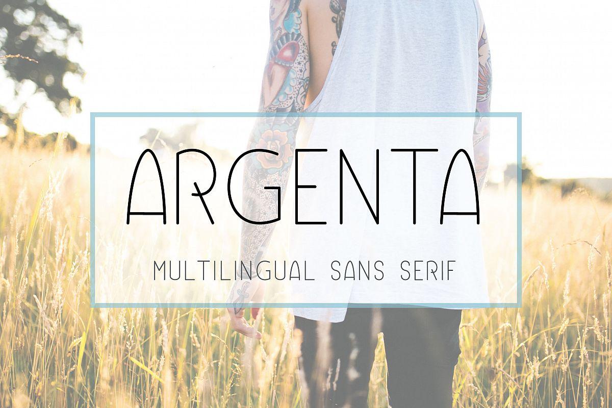 Argenta | Multilingual Sans Serif example image