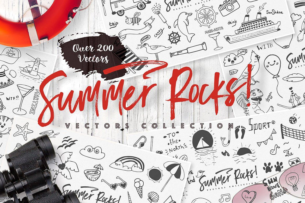 Summer Rocks! Vectors Collection example image