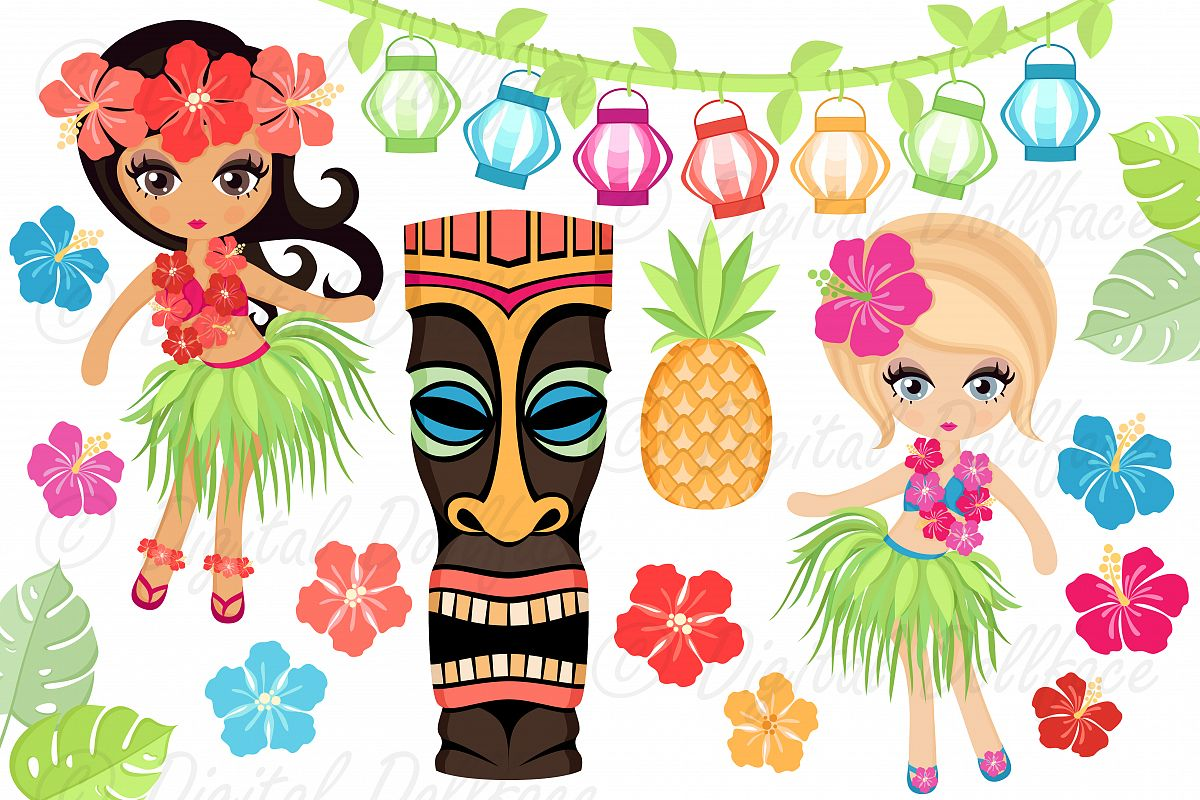 luau clipart by digital dollface design bundles rh designbundles net luau clipart and borders luau clipart and borders