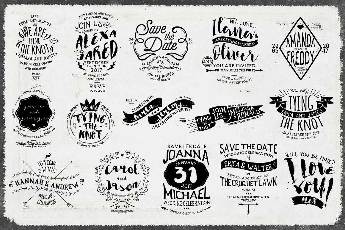 Rustic Wedding Badges & Sticker example image 2