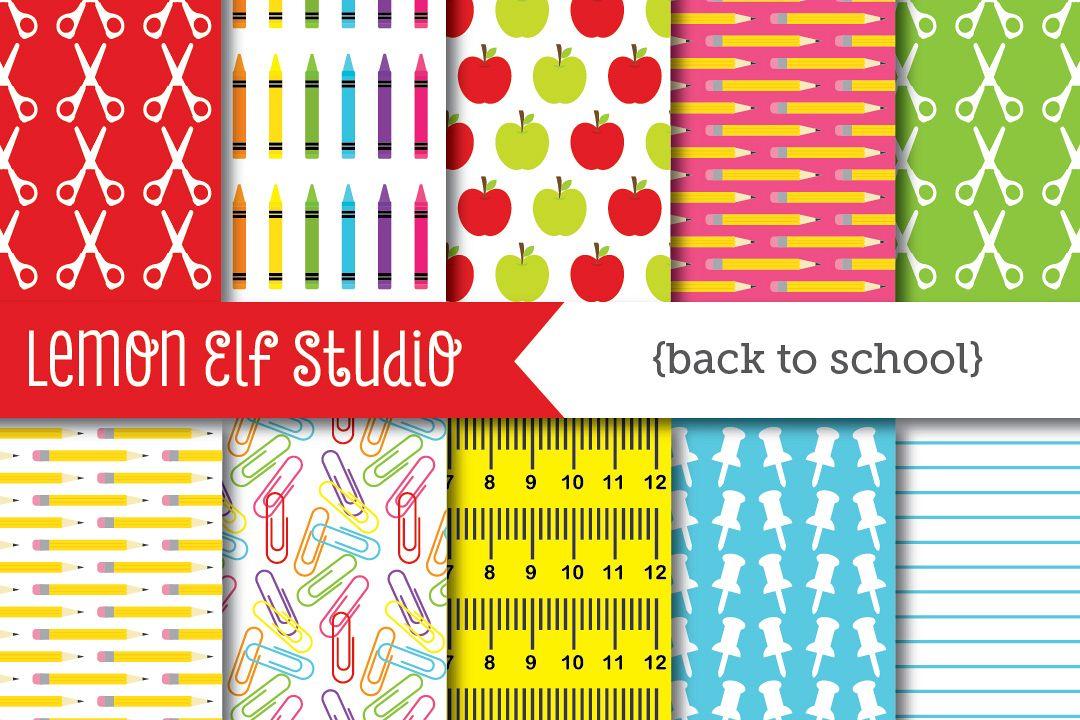 Back To School-Digital Paper (LES.DP17) example image