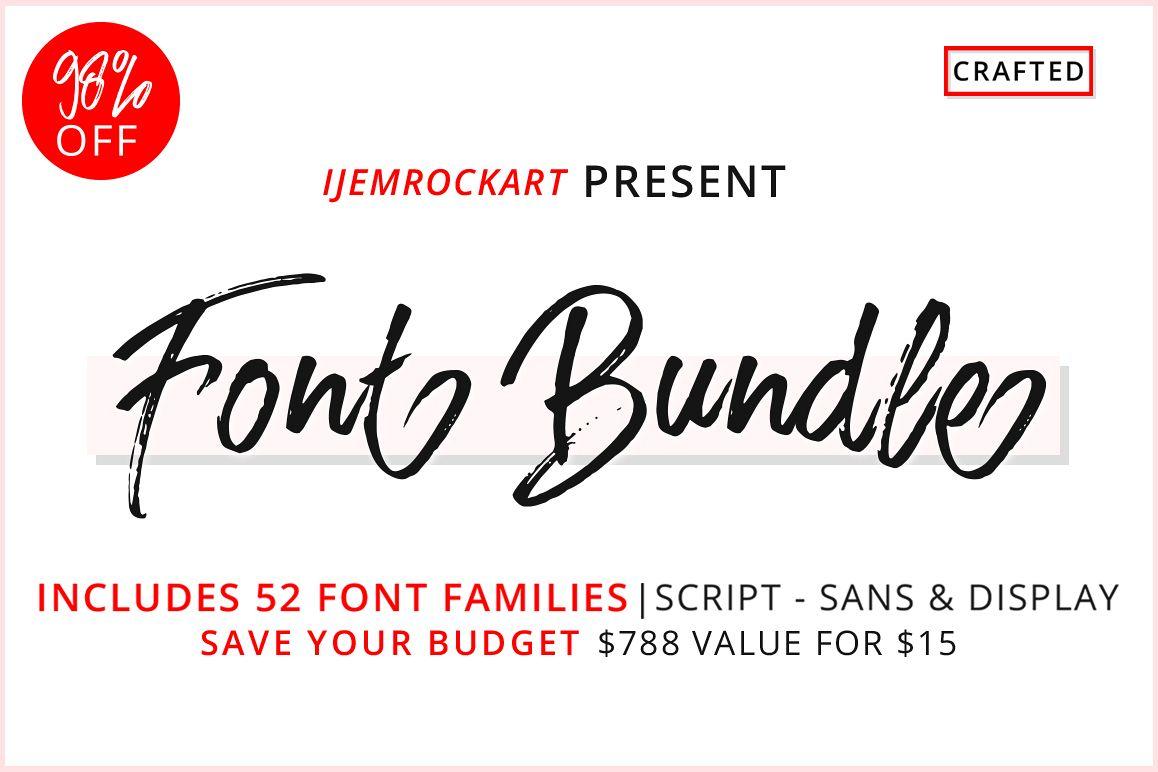 Font Bundle 2018 example image