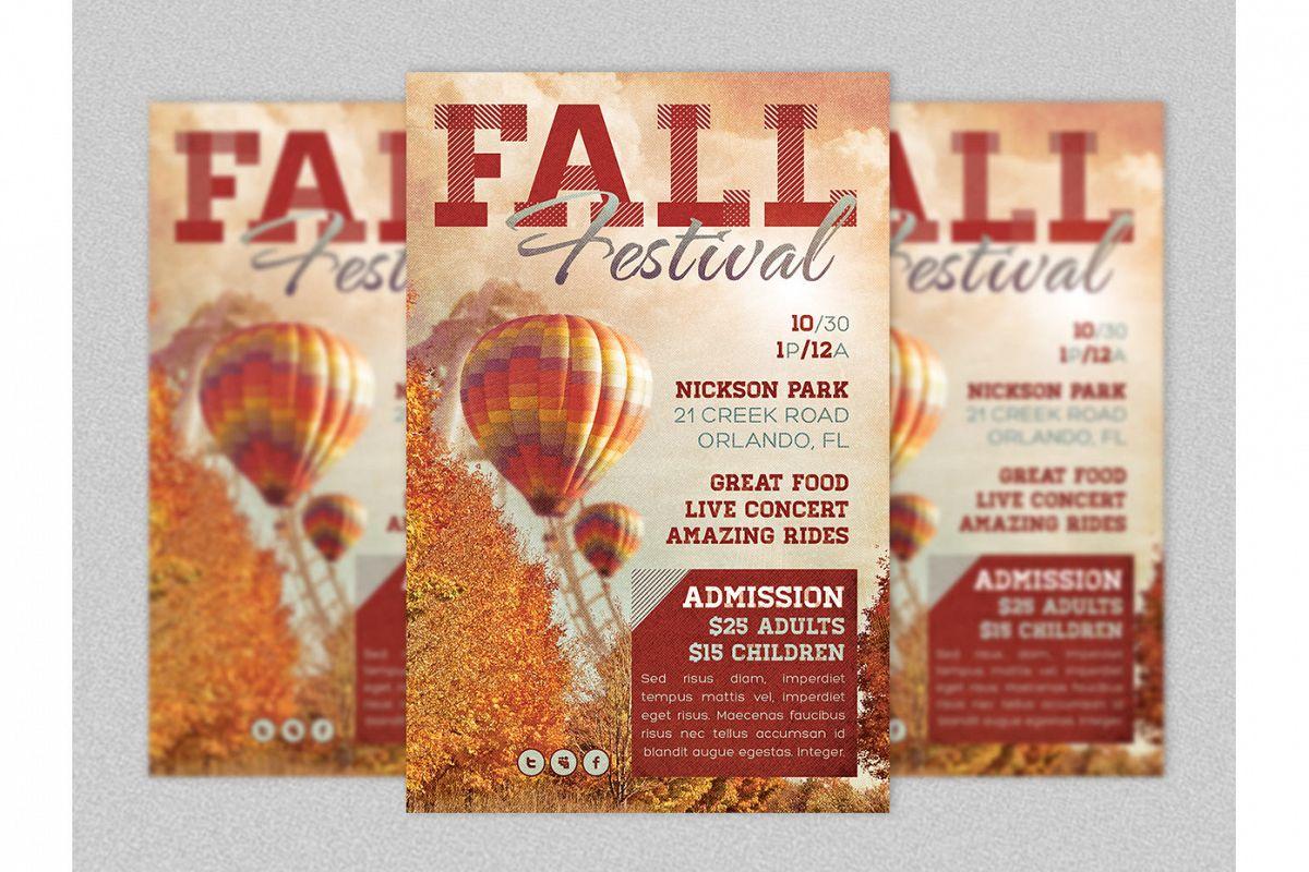 Fall Festival Flyer Template by Godserv   Design Bundles