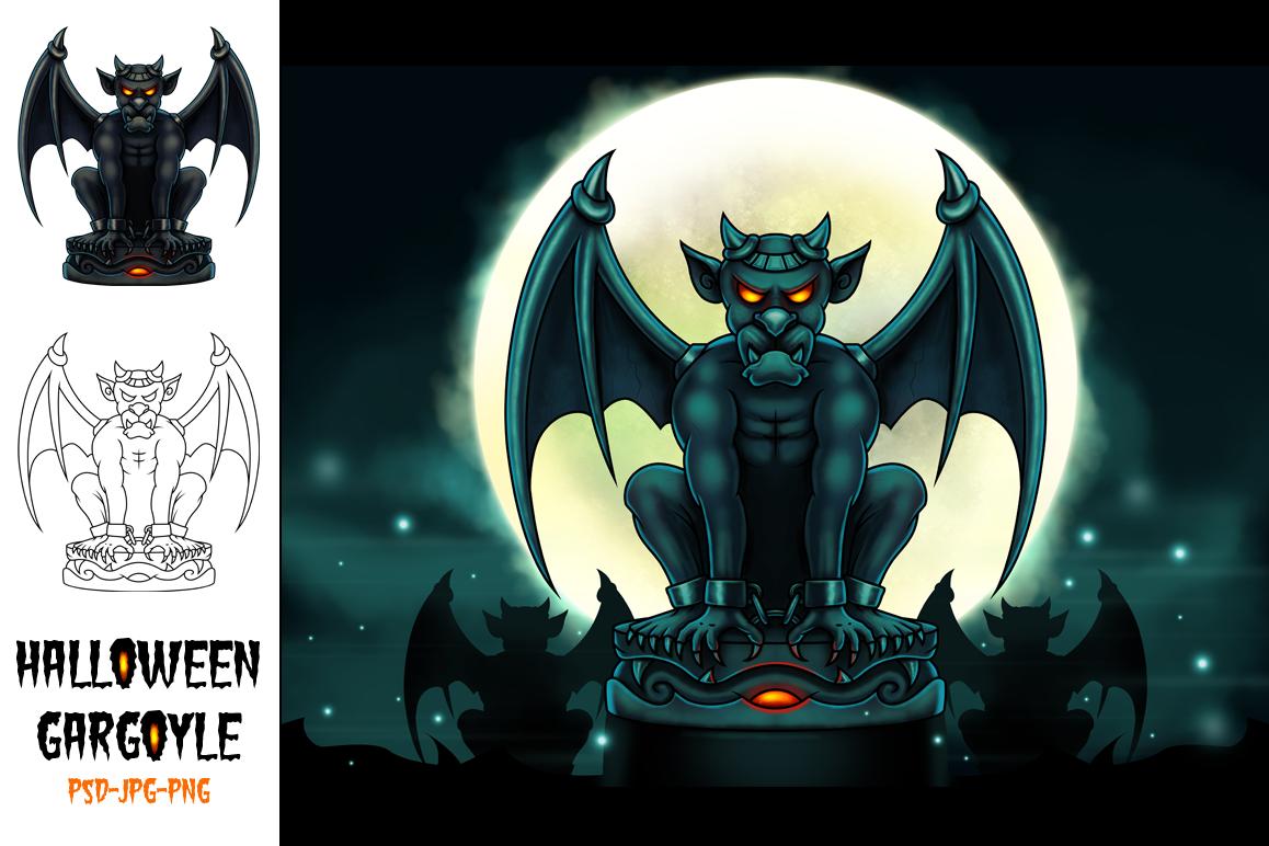 Halloween Gargoyle Illustration - Digital Painting example image