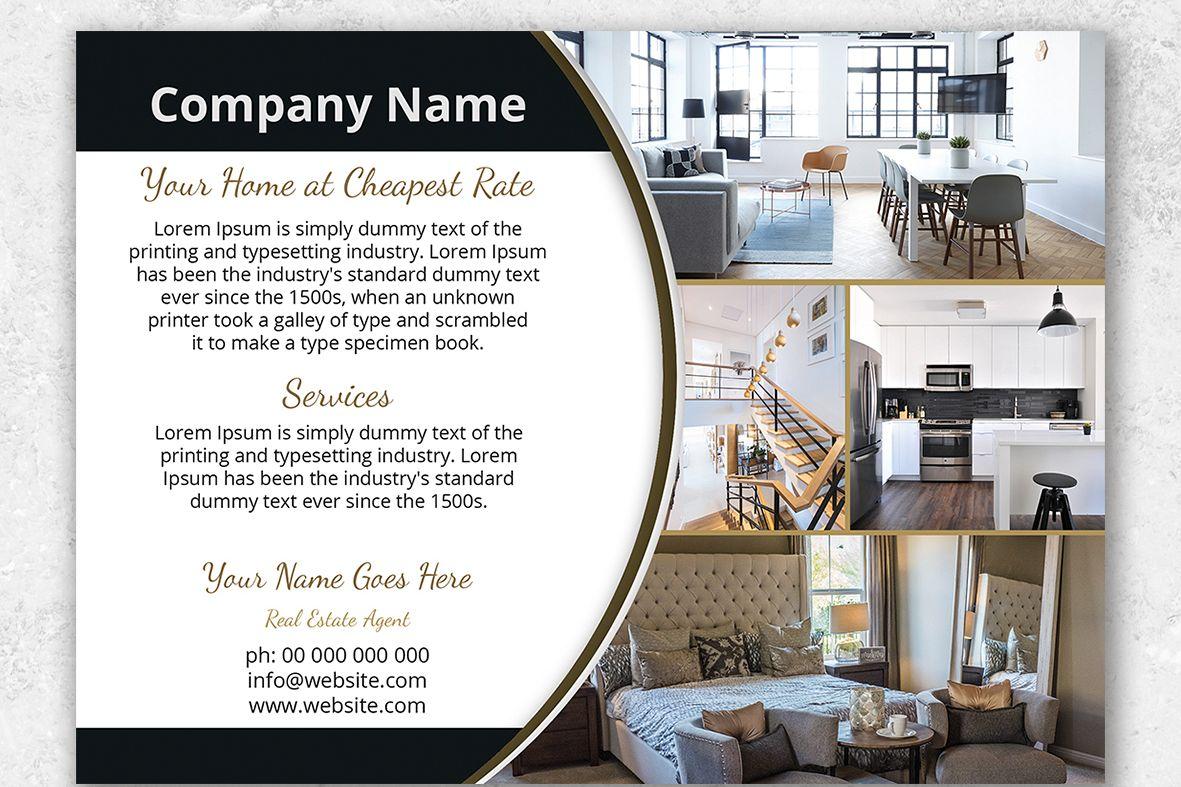 Interior Design Flyer Template By Photo Design Bundles