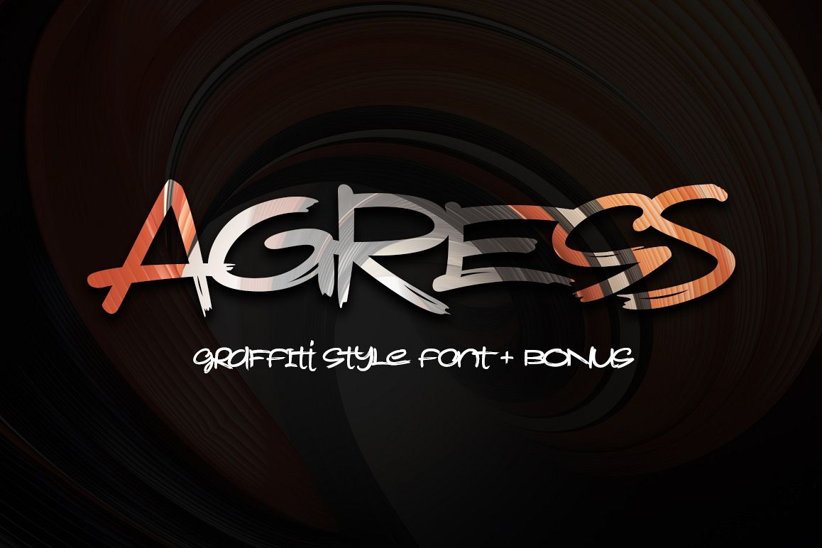 Agress Font + Bonus example image