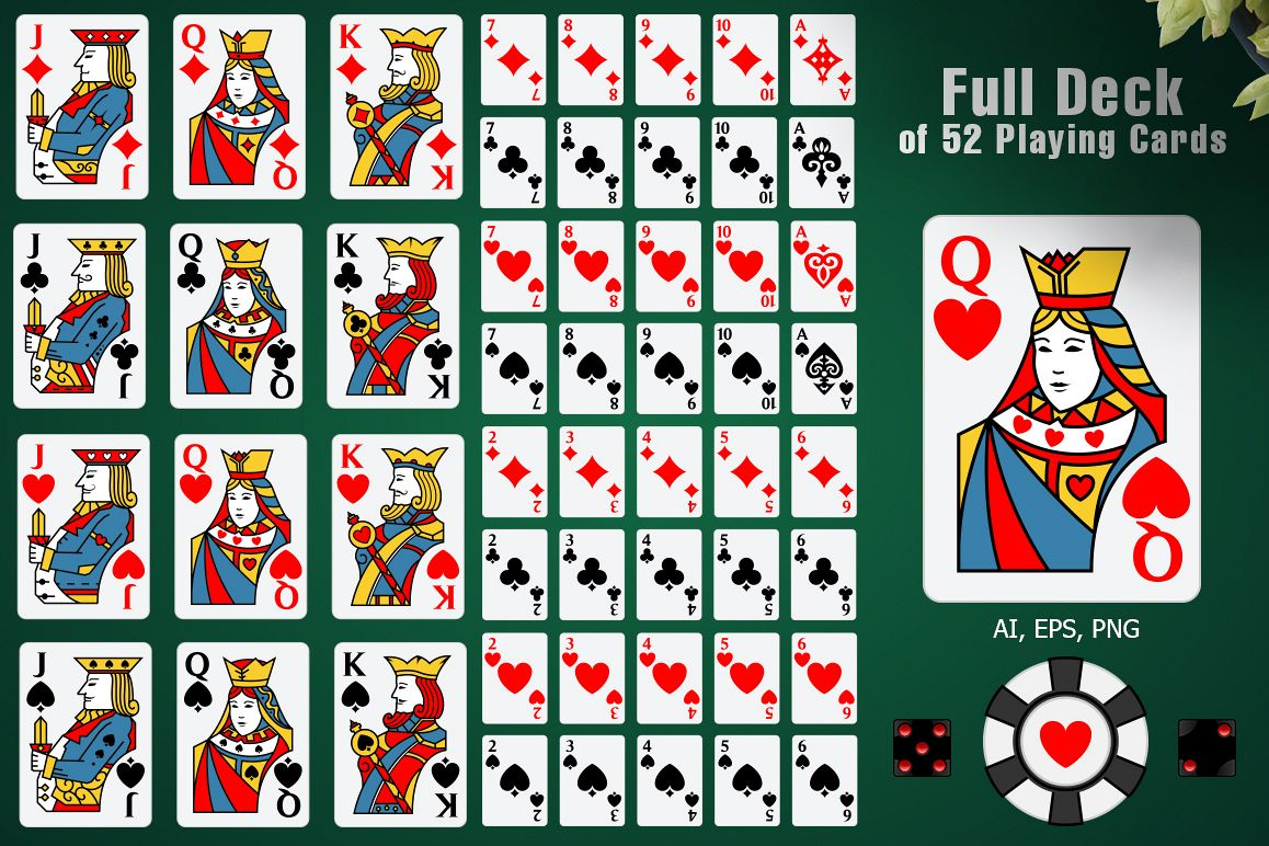 Full Deck of 52 Playing Cards example image