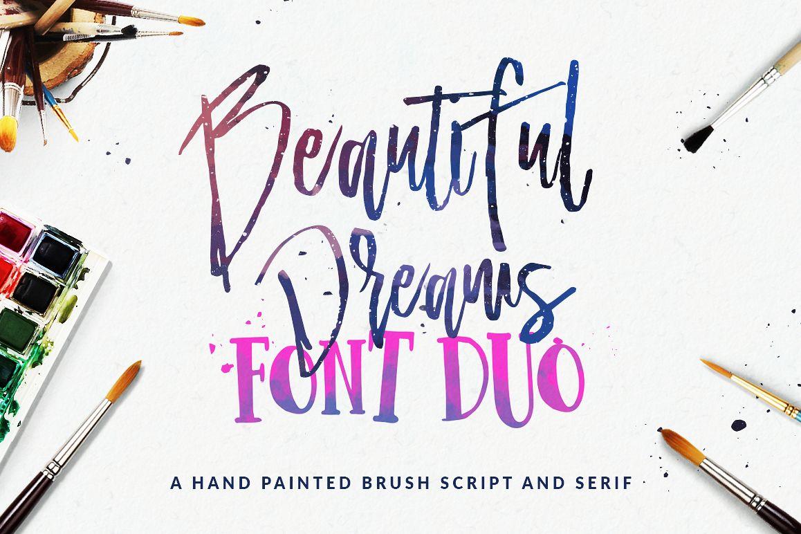 Beautiful Dreams - Font Duo example image