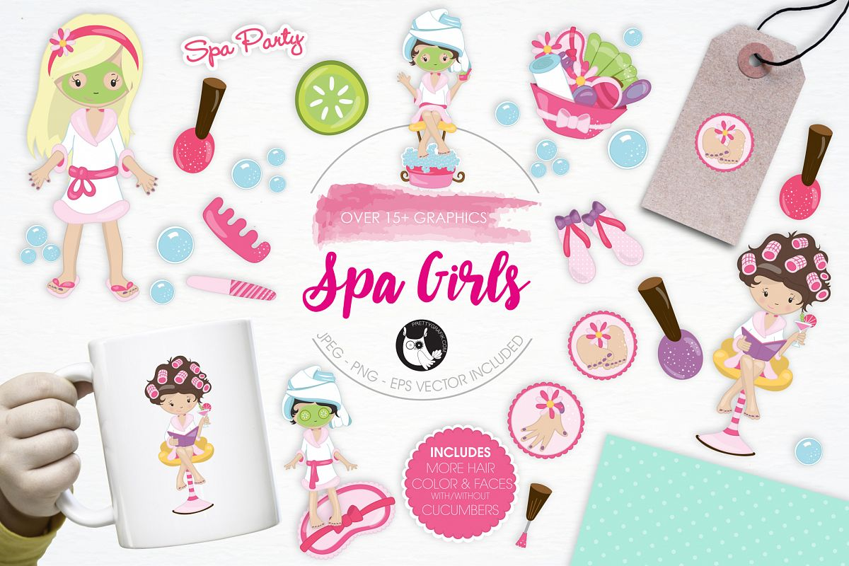 Spa Girls graphics and illustrations example image