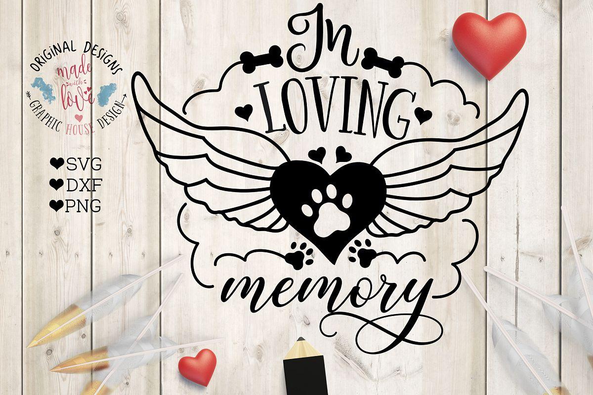 Top In Loving Memory Pet Memorial Cut File | Design Bundles PT66