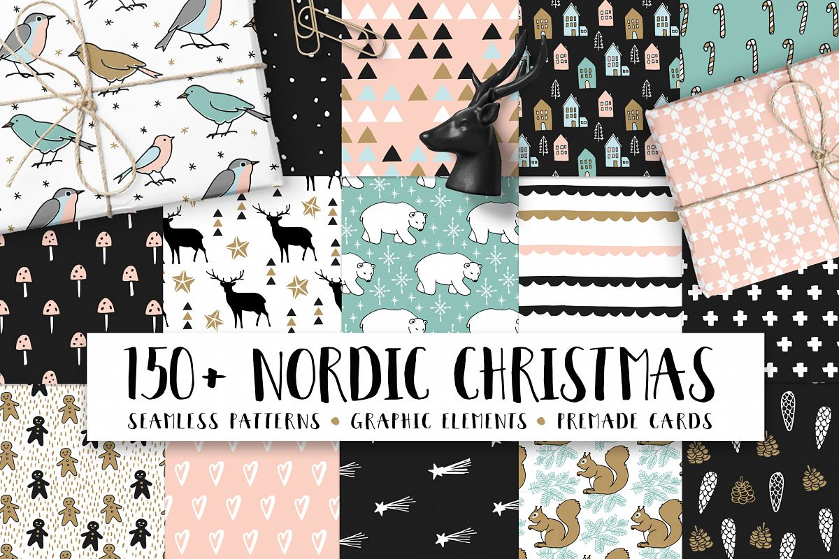 150+ Nordic Christmas set example image
