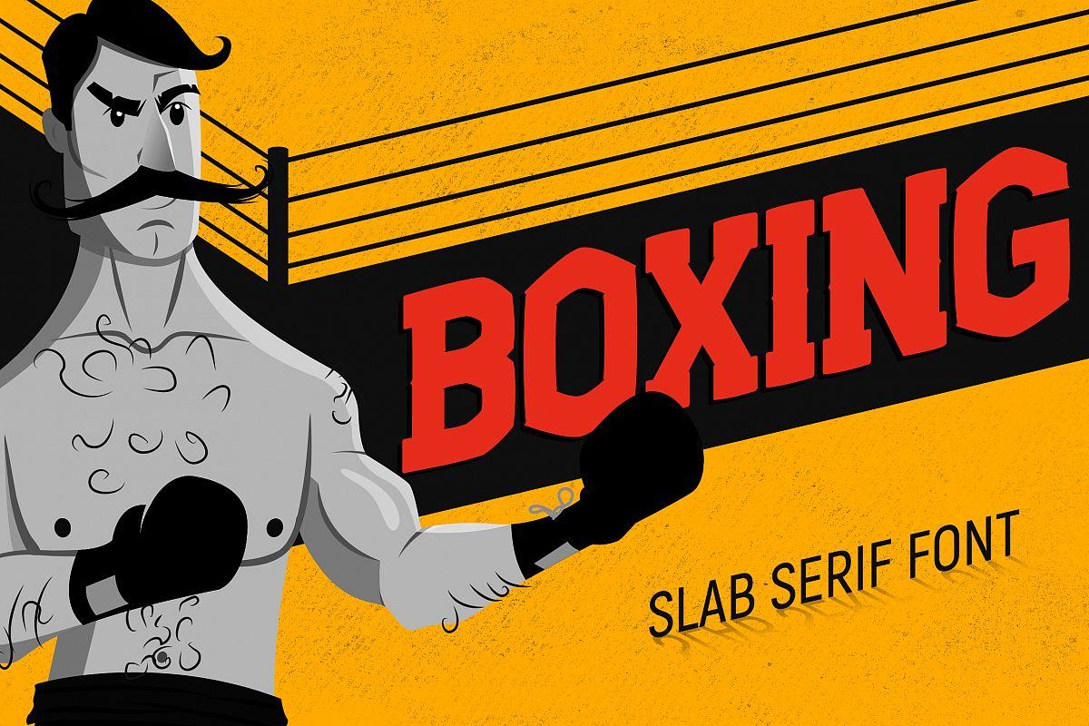 Boxing - Slab Serif Font example image