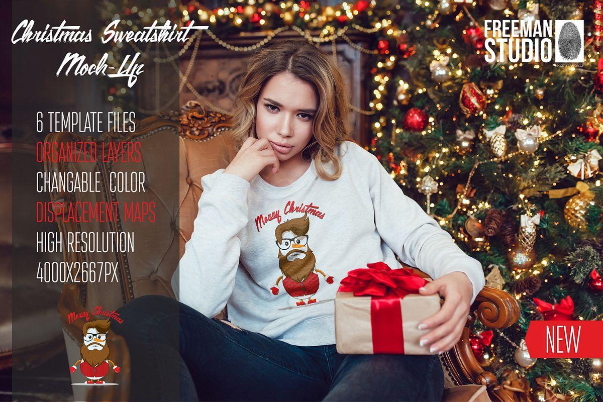 Christmas Sweatshirt Mock-Up example image