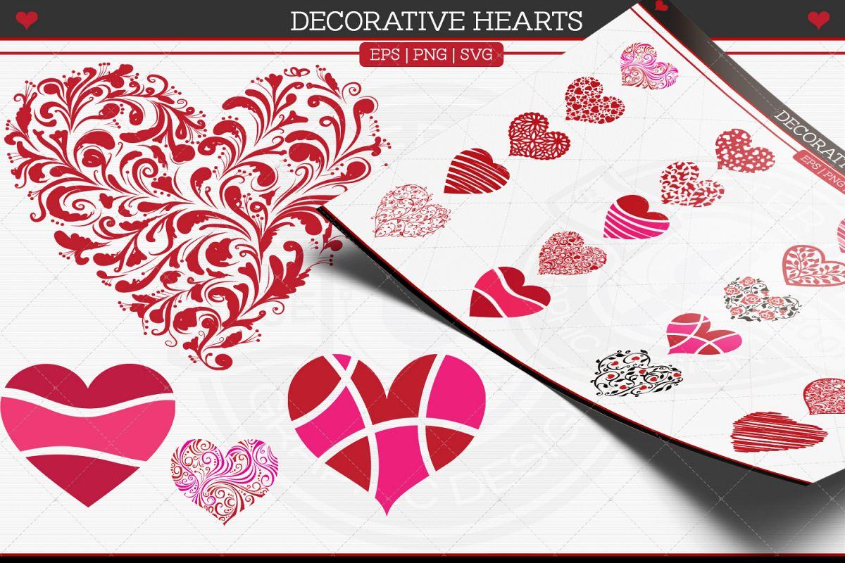 Decorative Hearts example image