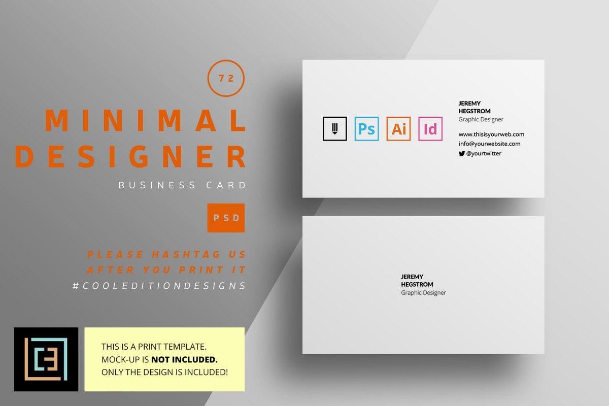 Minimal designer business card bc072 design bundles minimal designer business card bc072 example image colourmoves