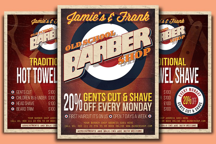 Barber Shop Flyer Template By Designroo Design Bundles