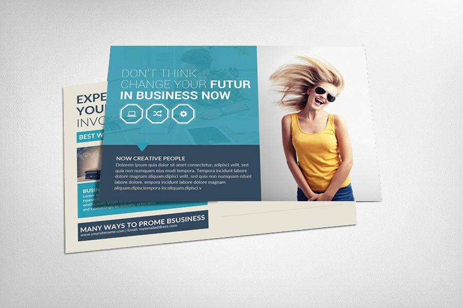 Business Postcard Design by Business Te | Design Bundles