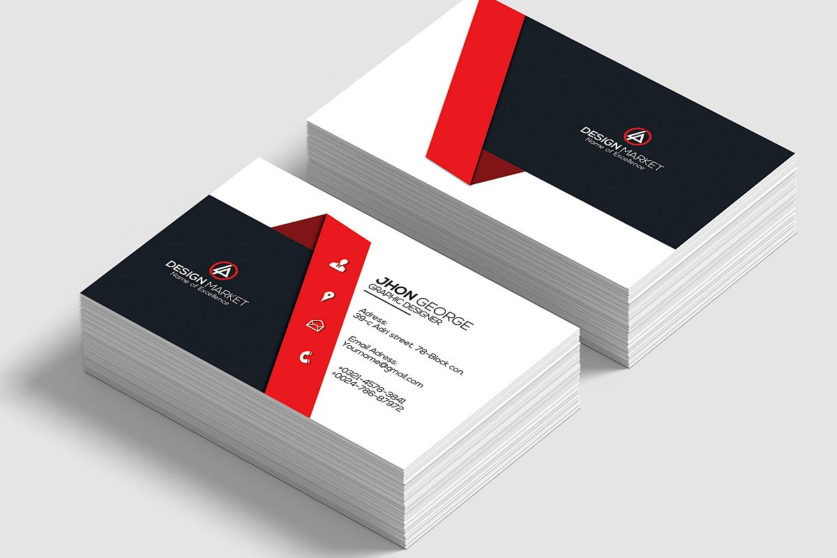 Professional Visiting Cards by Designhu | Design Bundles