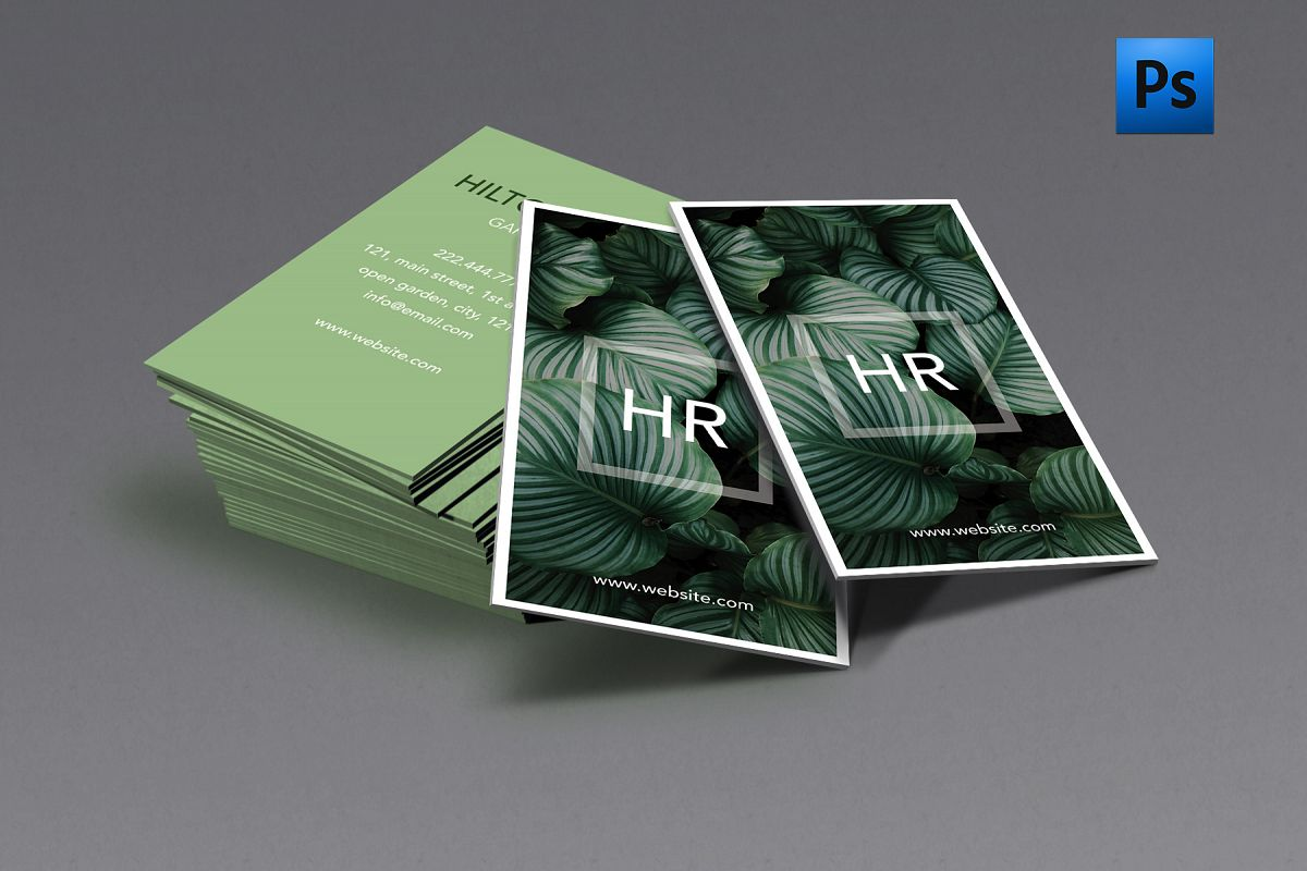Green nature classy business card by cr design bundles green nature classy business card example image colourmoves