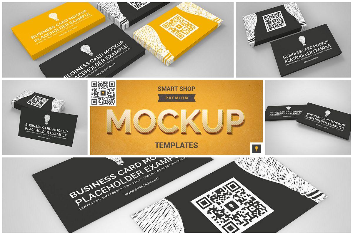 Business card mockup set by shocky desi design bundles business card mockup set example image reheart Choice Image