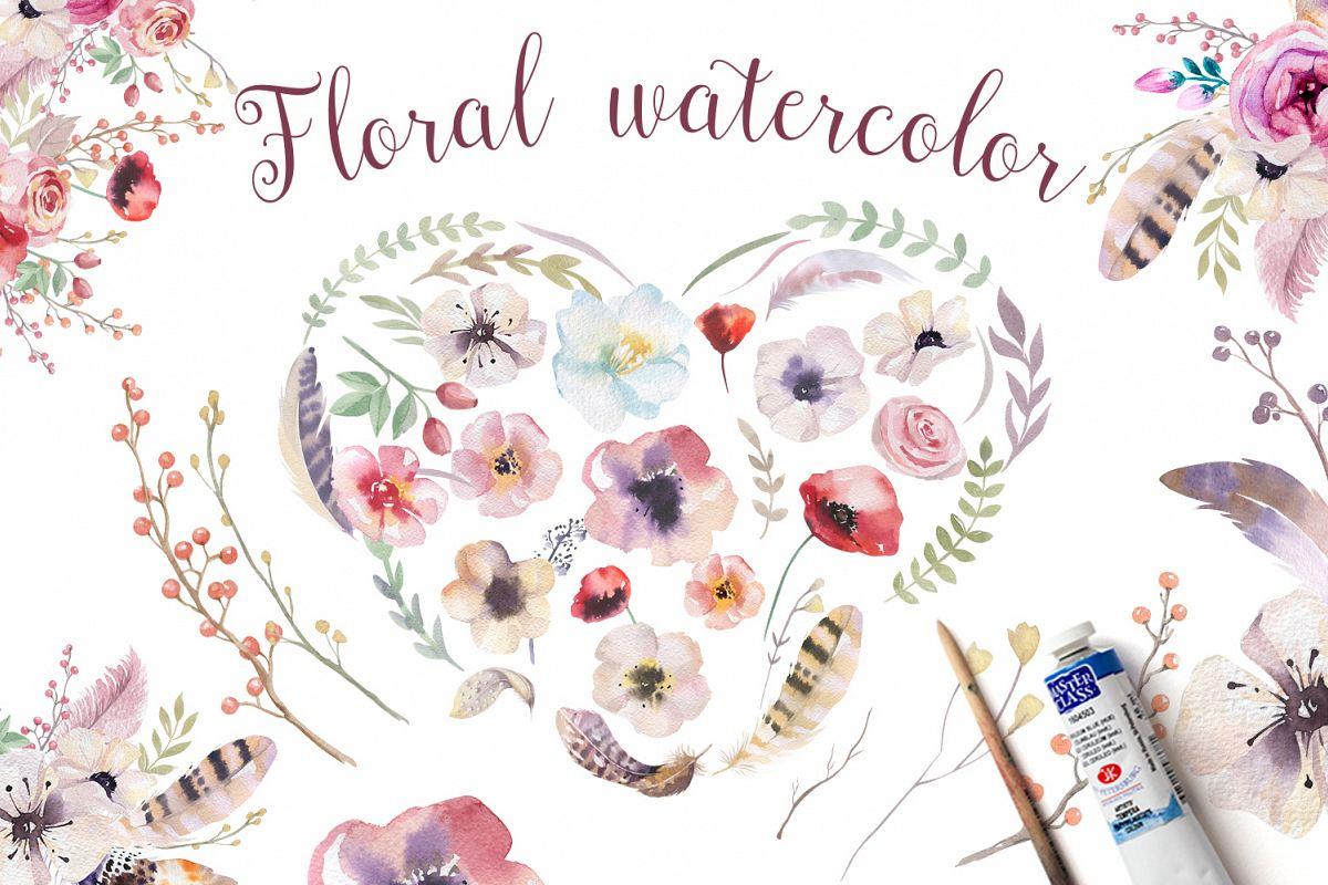 Tribe & Flower boho bundle example image 4