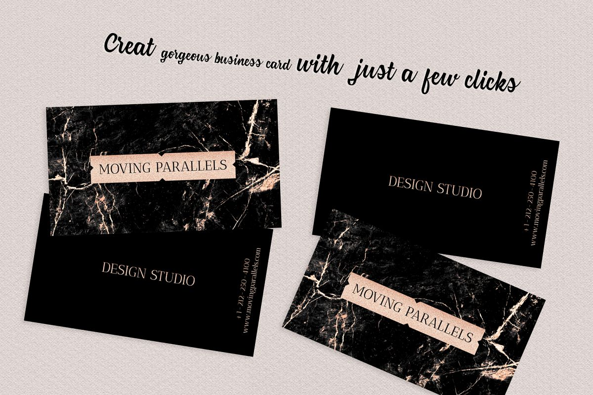 Rose gold foil marble business card by design bundles rose gold foil marble business card example image 3 colourmoves