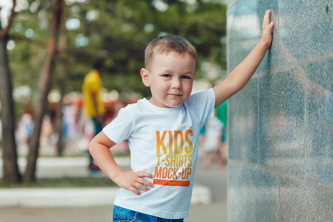 Kids T-Shirt Mock-Up Vol. 4 example image 10