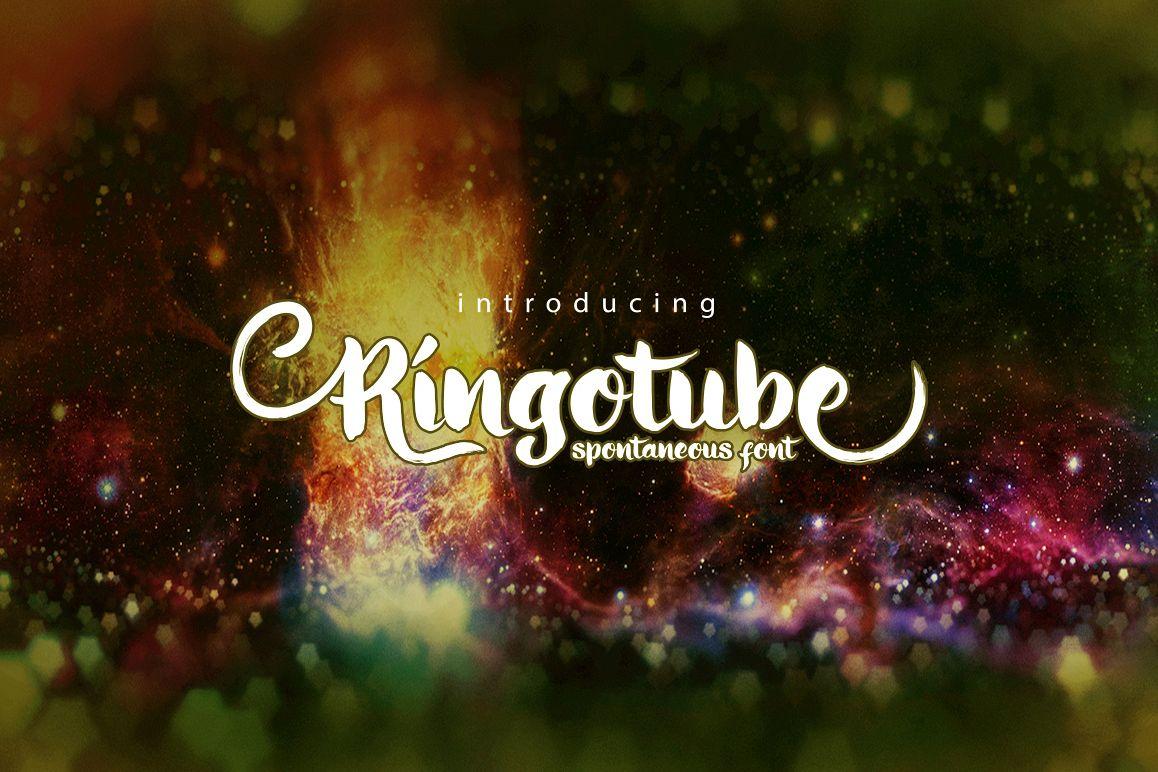 Ringotube font example image
