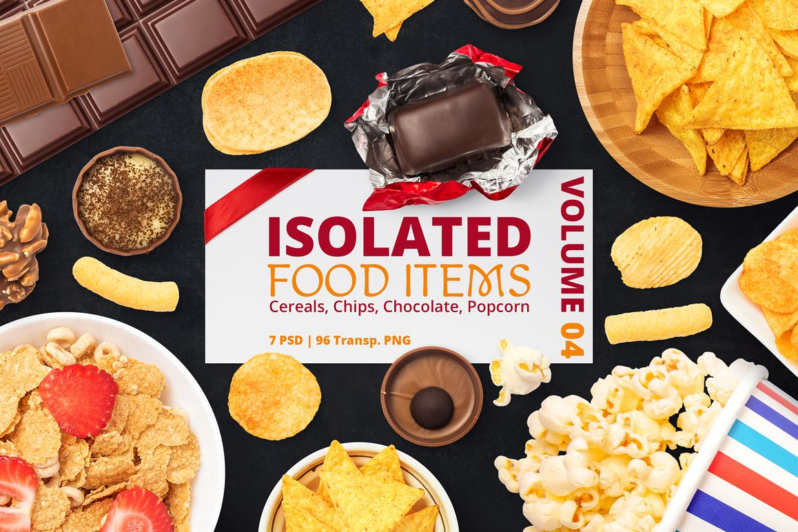 Isolated Food Items Vol.4 example image