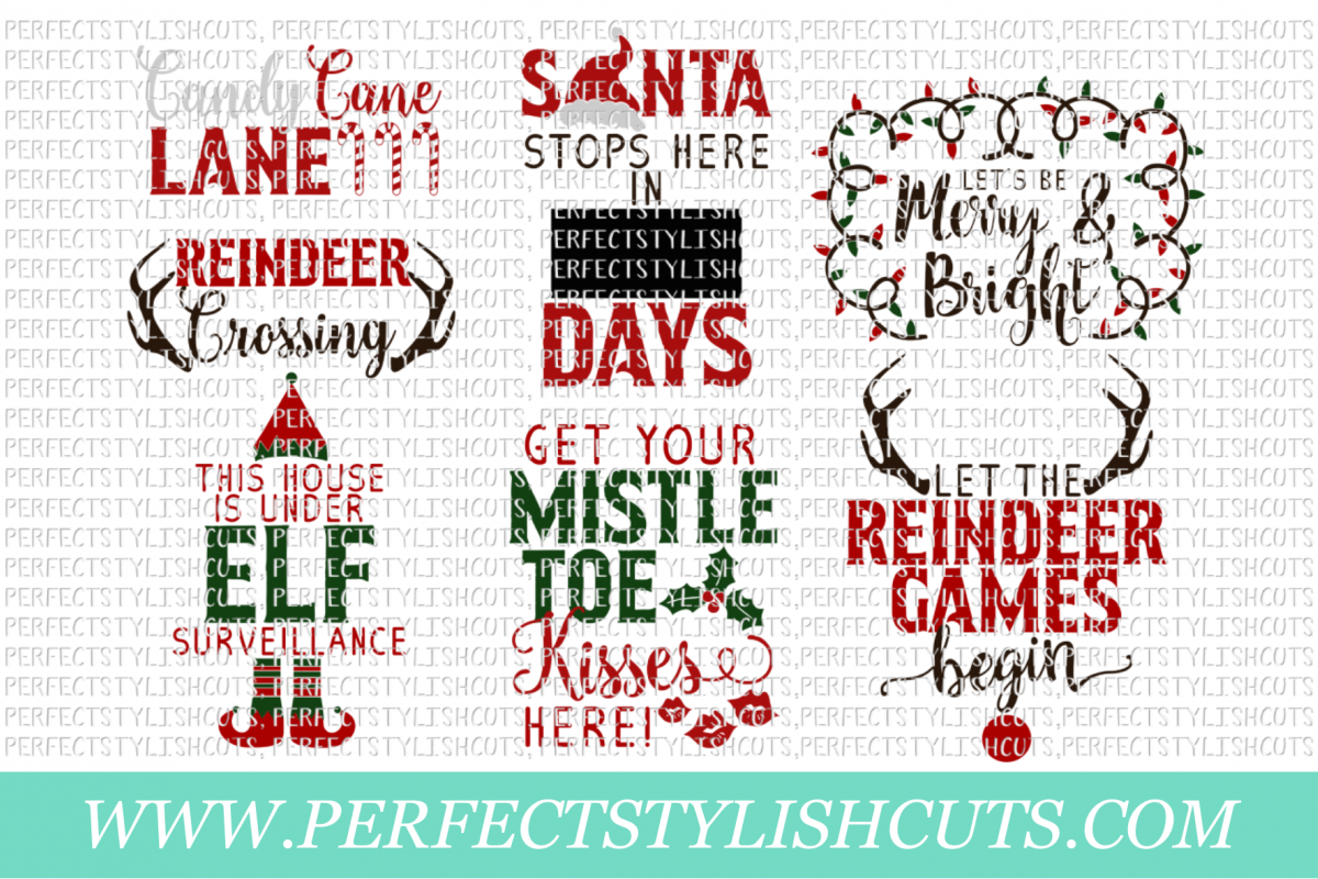 Christmas Wood Sign Designs Collection - SVG, EPS, DXF, PNG Files For Cutting Machines example image 2