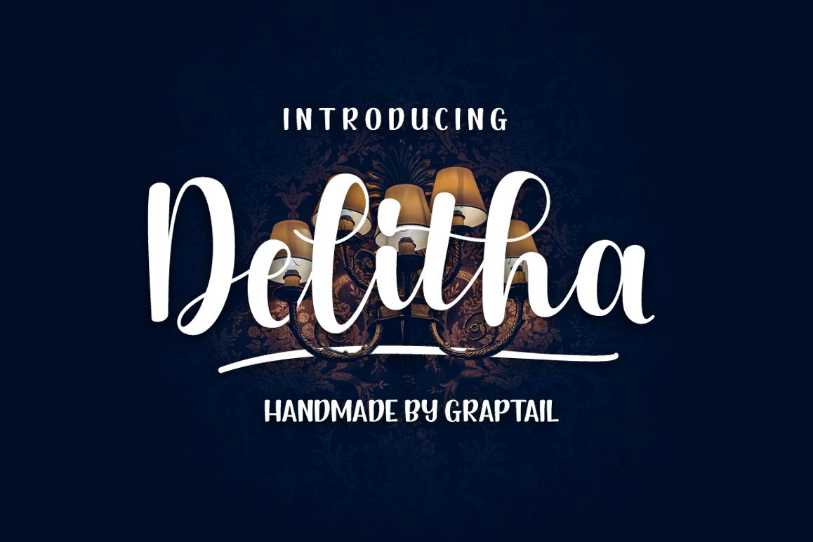 Delitha Font example image