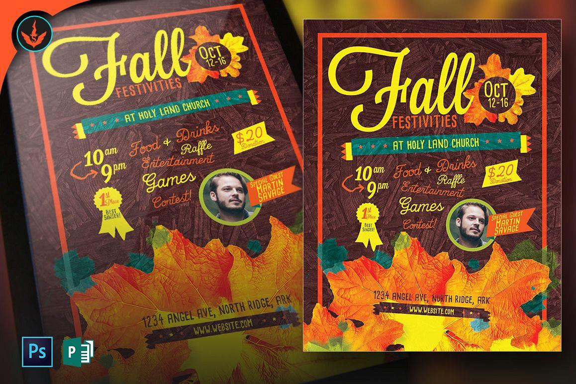 Fall Festivities Holiday Flyer Template | Design Bundles
