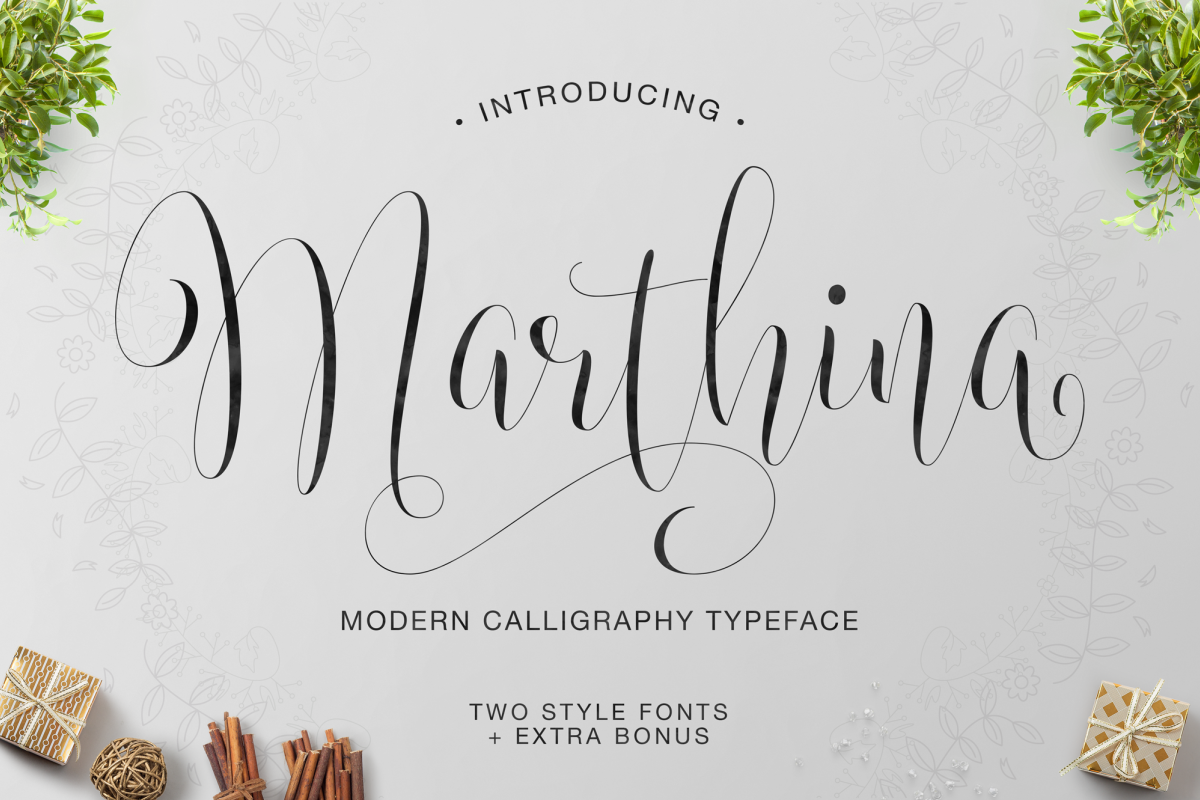 Marthina Script - Two Style example image