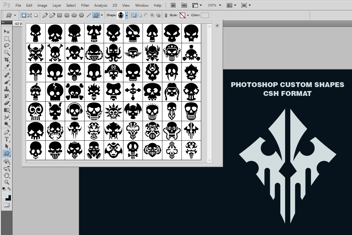 63 Vector Skulls Collection example image 3