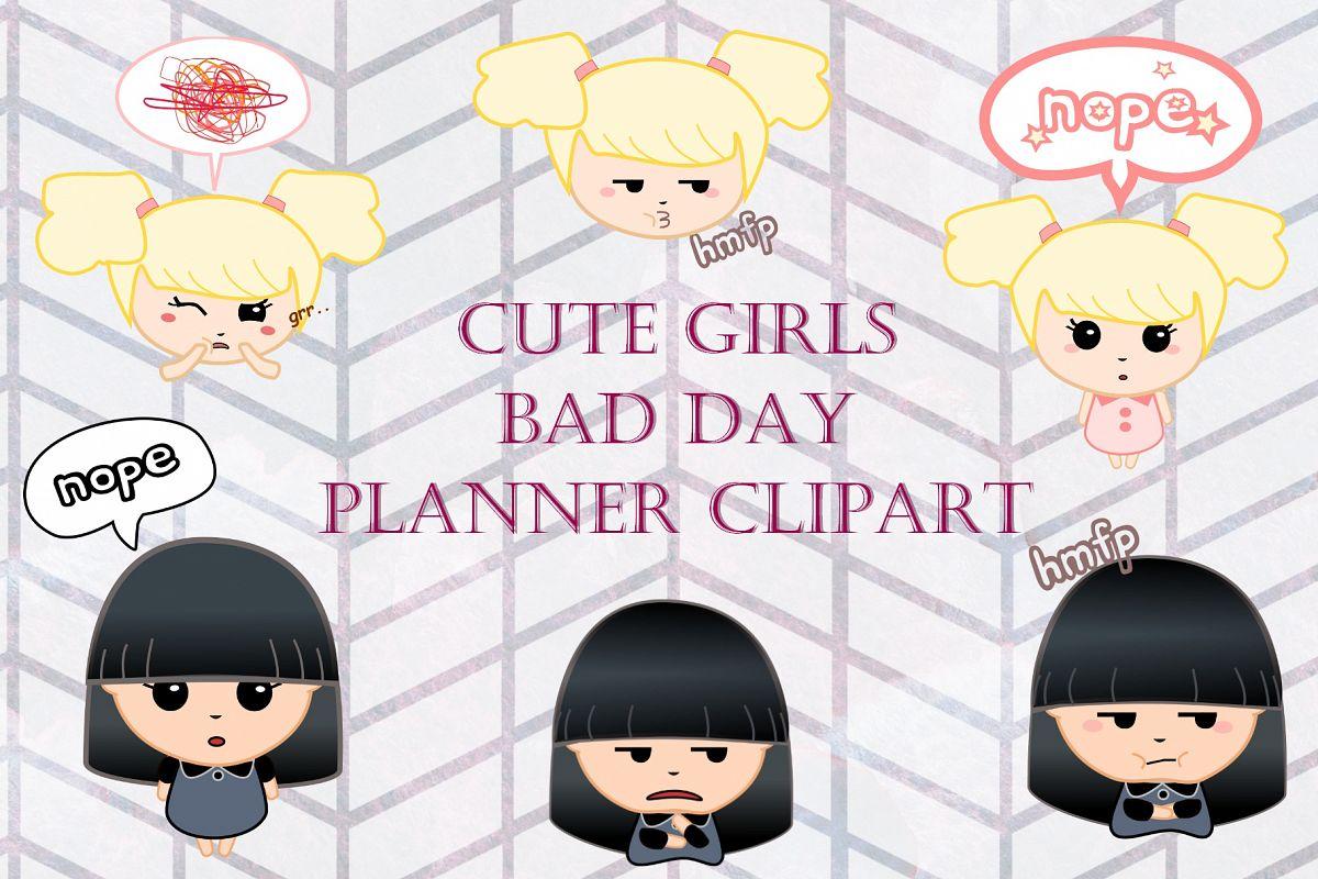 Bad Planner bad day planner clip by design bundles