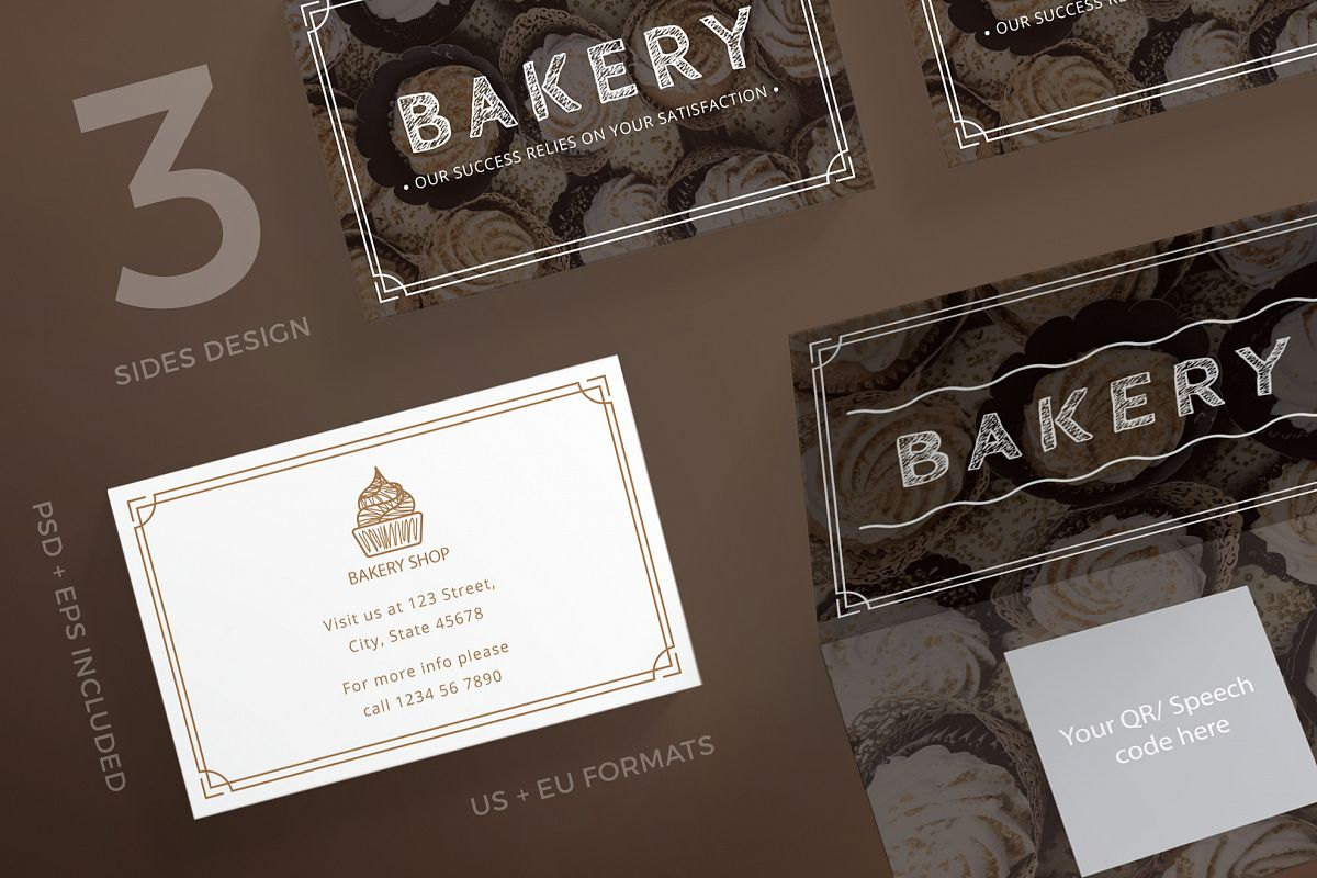 Bakery Business Card Design Templates K   Design Bundles