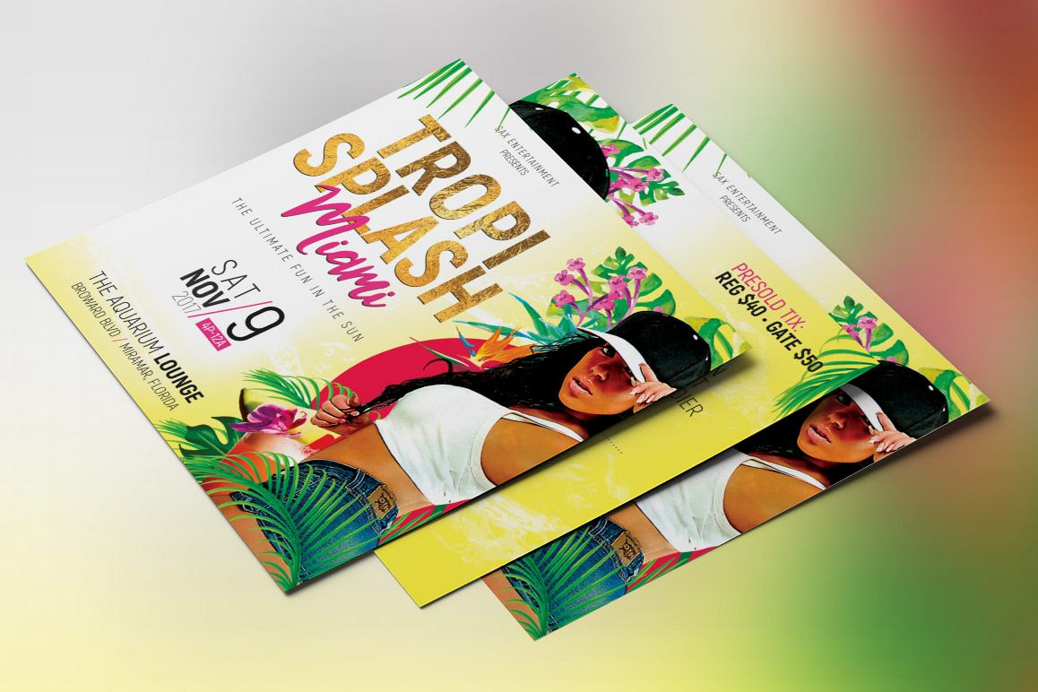Tropical party small flyer template by design bundles tropical party small flyer template example image saigontimesfo