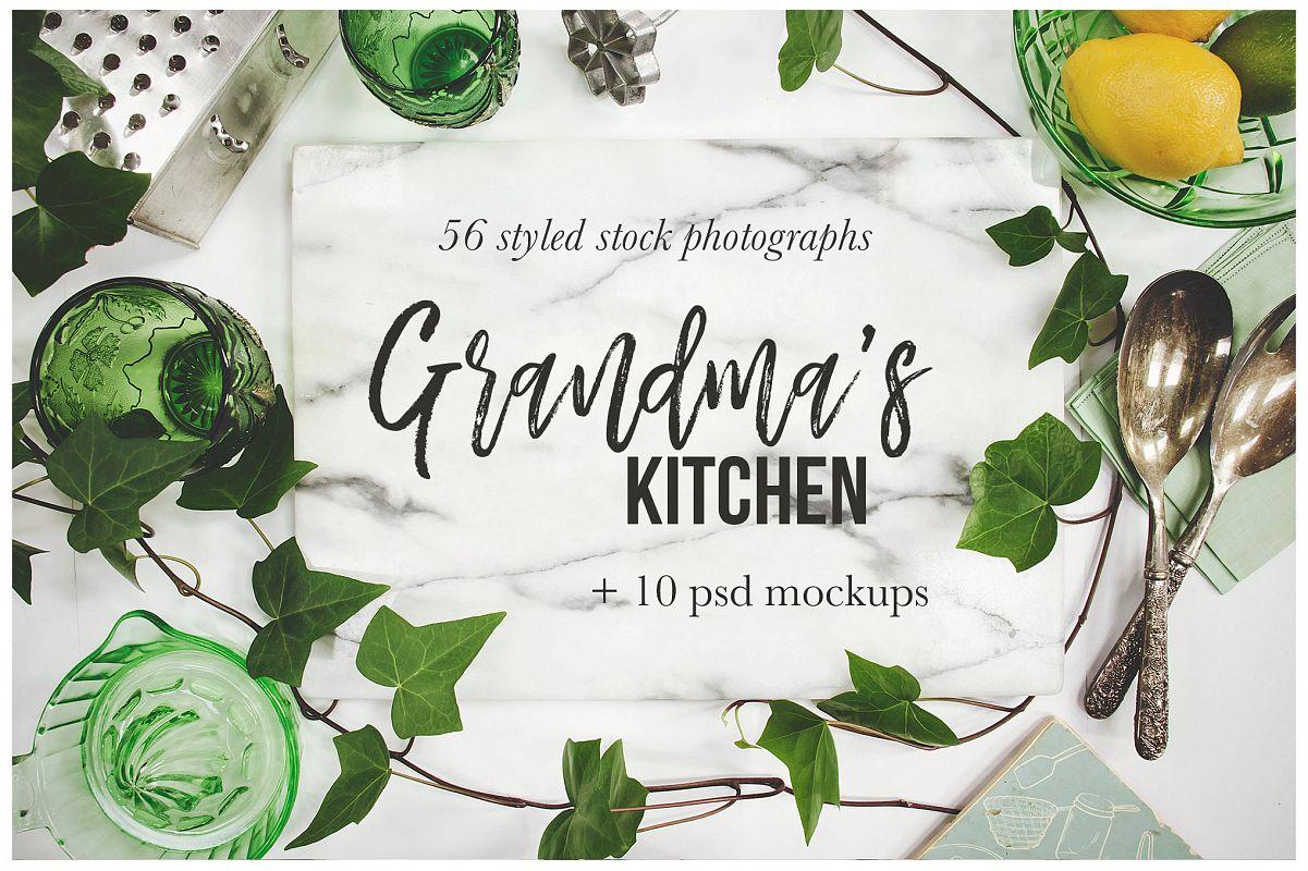 Grandma\'s Kitchen Stock Photography Bun | Design Bundles